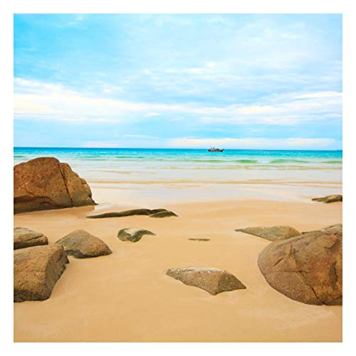 Tapete selbstklebend - Rocky Beach - Fototapete Quadrat 192x192 cm