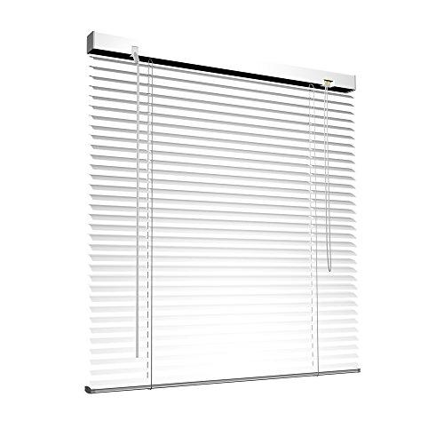 Victoria M. Aluminium Jalousie, 80 x 175 cm, weiß, Jalousie ohne Bohren, inkl. Klemmclips