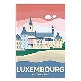 ASFGH Luxemburg City Vintage Reise Poster Dekor Gemälde