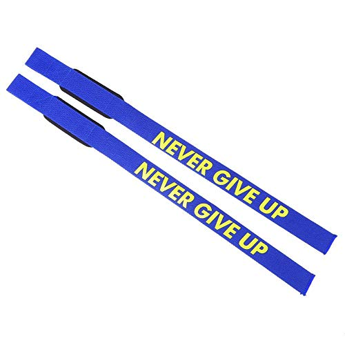 Zer one Correas de Levantamiento de Pesas, 1 par Fitness Gel Gym Wrist Professional Standard Belt Padded Barbell Wristband Padded Levantamiento de Pesas Gym Straps(Azul)