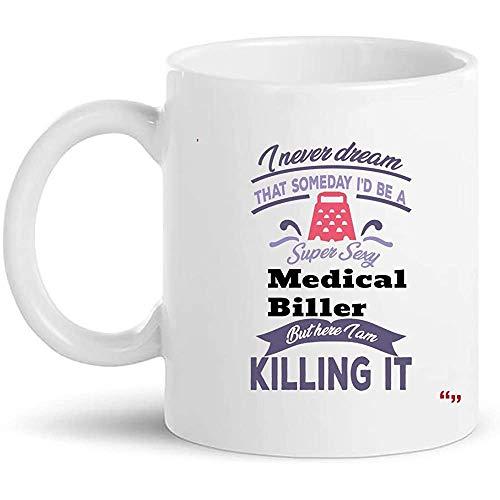 Tasse Medical Biller Mitarbeiter Kollege Präsentiert Jubiläum Tee Tassen Kaffee Tassen Geschenk 330Ml Mode Hochwertige Geburtstag Zu Hause Langlebig