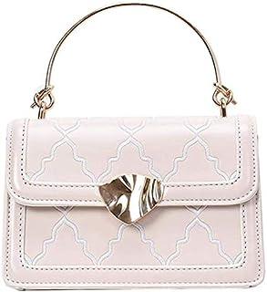 Elegant Chic Autumn and winter bags women bags tide fashion wild simple texture hand ladle shoulder slung small square ba...