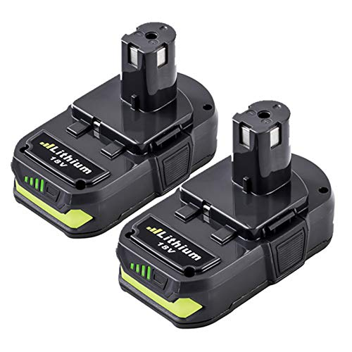 2Pack 18V 3.0Ah Replacement Battery for Ryobi 18V Lithium Battery ONE+ Plus P102 P103 P104 P105 P107 P108 P109 P122