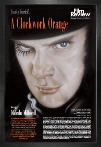 1art1 La Naranja Mecánica Póster con Marco (Madera DM) - Alex DeLarge, Malcolm McDowell (91 x 61cm)