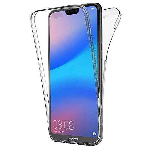 COPHONE Custodia per Huawei P20 Lite 360°Full Body Cover Trasparente Silicone Case Molle di TPU Trasparente Sottile Protezione per Huawei P20 Lite