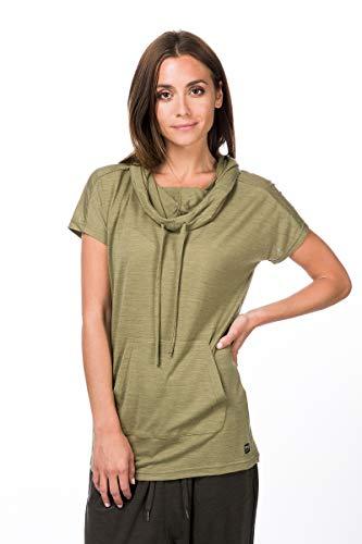 super.natural Funnel T-Shirt en Laine mérinos. Femme, Mélange de Bambou, XL