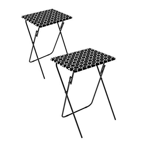 Atlantic 2-Pack TV Tray, Park Place in Black and White -