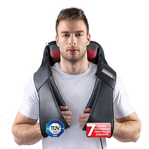 Klopfy Nackenmassagegerät Donnerberg München Klopfmassagegerät für Shiatsu und Klopfmassage 4D - Massagegerät mit Wärmefunktion TÜV Süd 7 Jahre Garantie