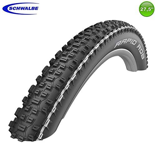 1 x Schwalbe Rapid Rob Fahrrad-Reifen Decke weißer Streifen 57-584 (27,5 x 2,25)