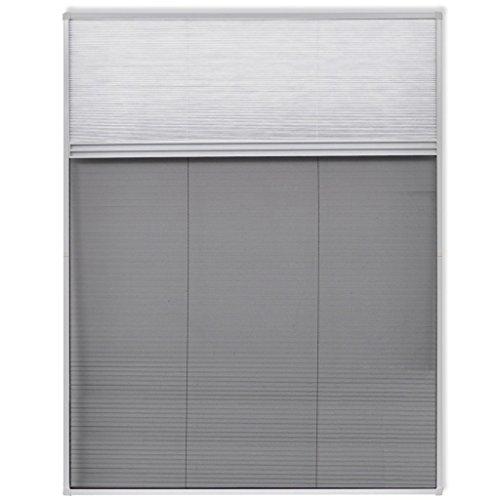Festnight 160 x 110 cm Insektenschutz Dachfenster Fliegengitter Insektenschutzfenster mit PET-Jalousie