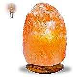 Lampada di sale di cristalli di salgemma rosa naturale dell'Himalaya, 2-3 kg, 100% cristalli autentici di altissima qualità con spina elettrica e lampadina certificata CE