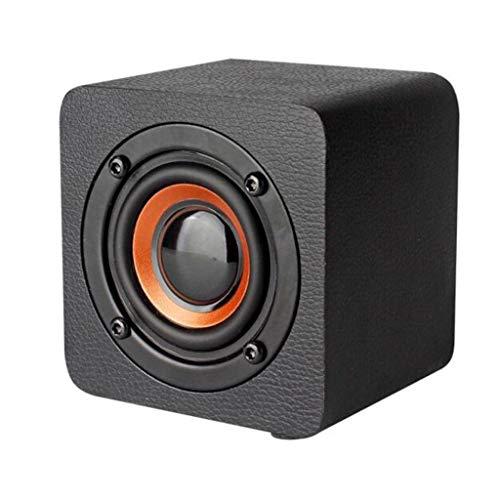 Altavoz Bluetooth inalámbrico de Madera, Q1 teléfono móvil Mini Audio Creativo, Altavoz Bluetooth 4.2, Batería de Litio de 1200 mAh (Color : Bluetooth Speaker 1)