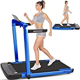 ANCHEER 2 in 1 Folding Treadmill with Remote Control & App, 2.25HP, Electric Under Desk Treadmill for Home