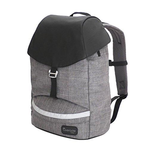 Overade Urban-rugzak voor laptop 14/15 inch - 25 l - veilig vak voor computer en tablet - onafhankelijk voorvak - grijze stof en regenbescherming