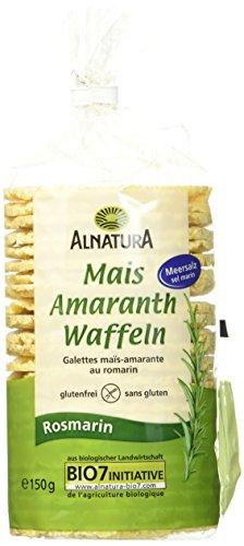 Alnatura Mais-Amaranth-Rosmarin Waffeln, 12er Pack (12 x 150 g)