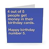 Central 23 – lustige Geburtstagskarte'4 Out of 5 People' für Männer & Frauen – Mama Papa Ehemann Frau Bruder Schwester süße Tier-Hundekarte Witzig Humor Witty Pun Banter 21. 30. 40.