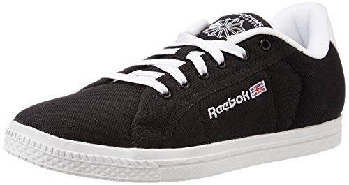 1. Reebok Men's Court Black and White Sneakers