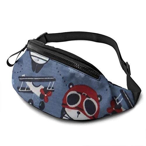 FengLiuAiShuaiGe Bum Bags Panda Pilot Fanny Pack Fashion Waist Bag,
