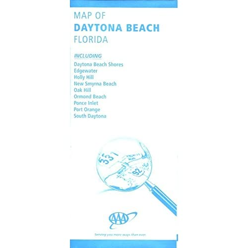 Map Of Florida Showing Daytona Beach.Map Of Daytona Beach Florida Including Edgewater Holly Hill New