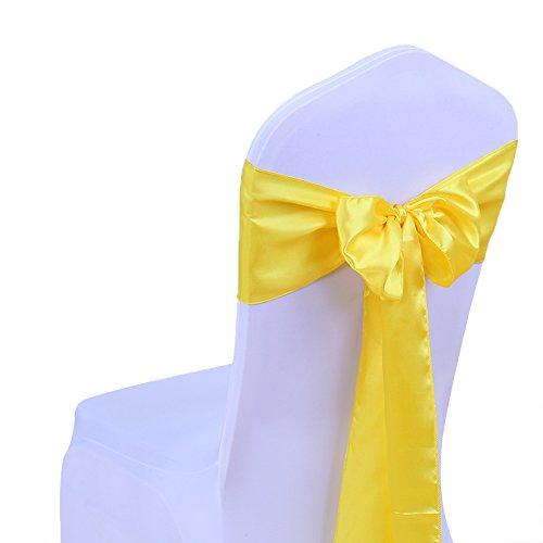 SINSSOWL 25 piezas decoración de boda pajaritas de satén multicolor para silla en estuche y suministros para fiestas funda para silla fajas cinta para silla