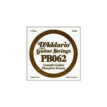 D'Addario PB062 - Cuerda para guitarra acústica de fósforo/bronce, .062