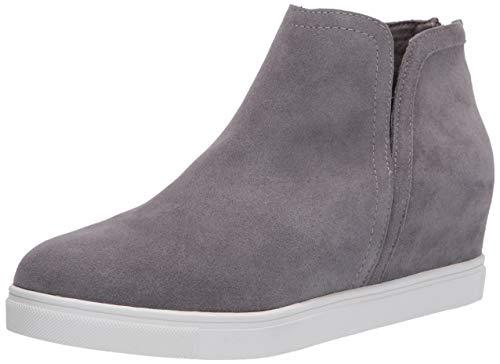 Blondo Women's Wedge Sneaker, Grey Suede, 6.5