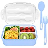 Bento Box, Lunch Box for Kids, INSMART 3 Compartment Food Storage Container Boxes, BPA Free On-the-Go Meal Prep Containers, Microwave/Dishwasher/Freezer Safe