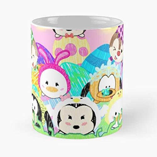 Rabbit Happy Sunday Time - Cesta de conejo de Pascua, diseño de conejo de primavera, comer comida mordida de John Best taza de café de cerámica de 325 ml