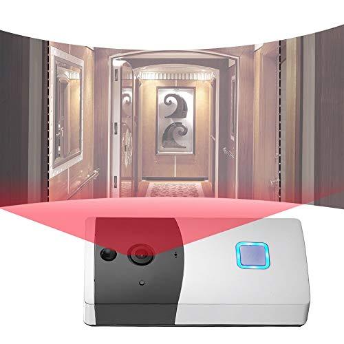 Timbre de video Wifi, cámara de video inalámbrica Anillo de control del teléfono Intercomunicador Visión nocturna y detección de movimiento Sensor de...
