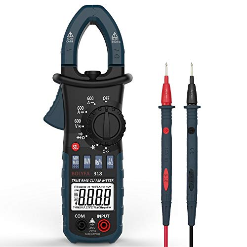 MXBIN BF318 6600 Cuenta Verdadero RMS AC DC 600A Pinza