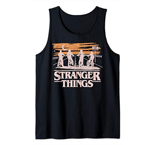 Netflix Stranger Things Night Silhouettes Camiseta sin Manga