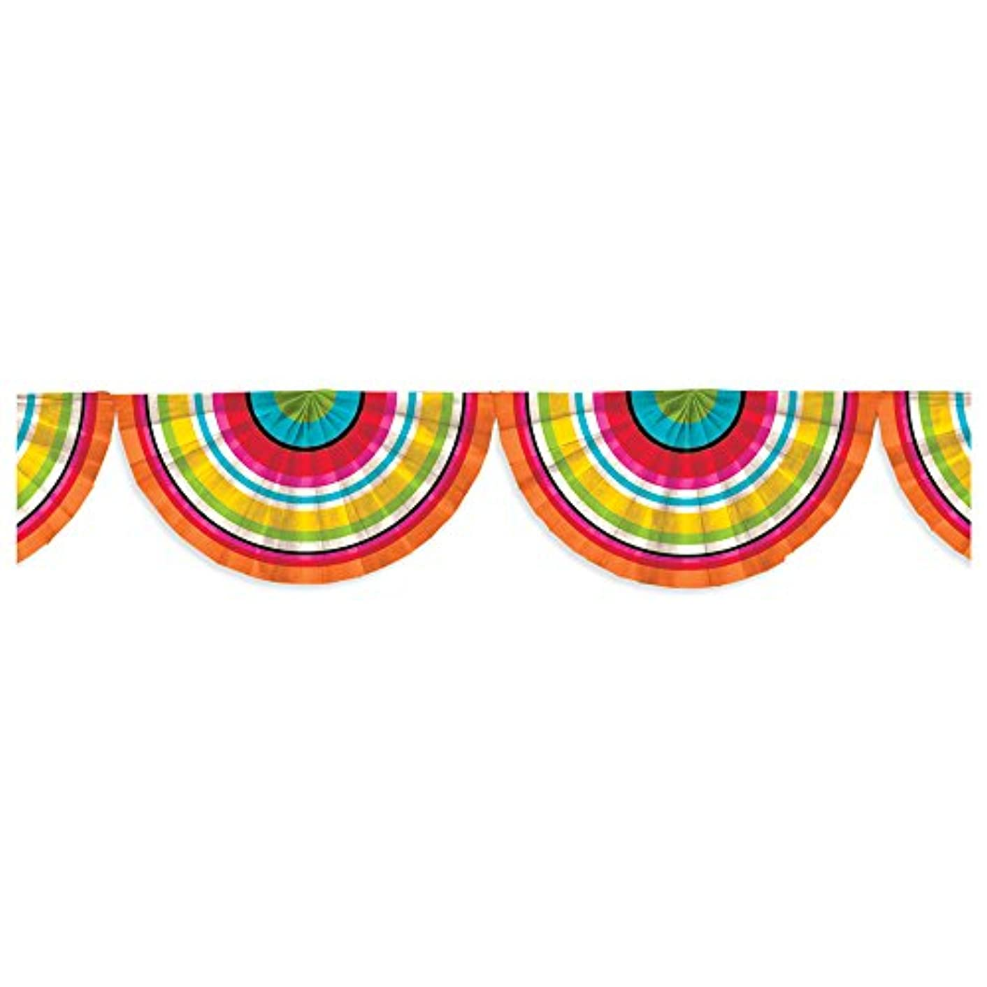 Amscan 220348 Serape Bunting Garland 9' Multicolor