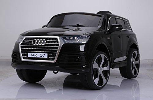 Audi Q7 S-line 12V, zwart metallic, lederlook zitting, 2.4ghz RC, rubberbanden, kinderauto, elektrische auto, elektrische kinderauto