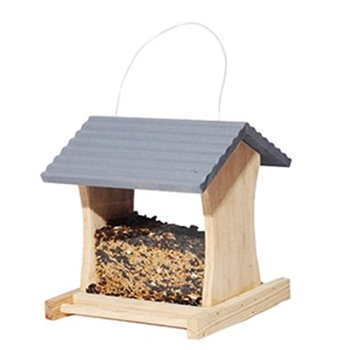 Vogelhäuschen Wetterfest Country House Design for eine einfache Reinigung & Refills Große Premier Bird Feeder traditionelle hölzerne Vögel Tabelle Frei stehende hängende Dekoration for Außenterrasse