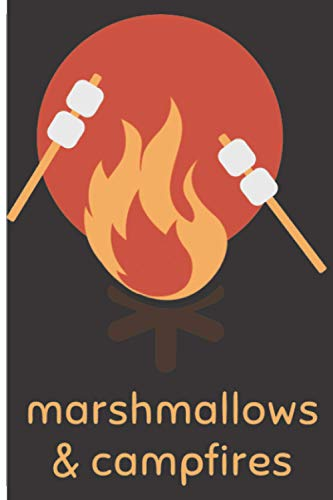 Marshmallows & Campfires: 120 Low Vision Lined Pages - 6' x 9' - Planner, Journal, Notebook, Composition Book, Diary for Women, Men, Teens, and Children