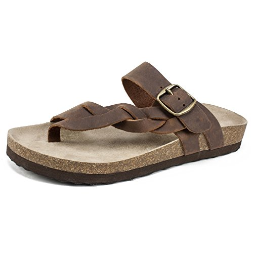 White Mountain Shoes'HONOR' Women's Sandal, BROWN/LEATHER, 9 M