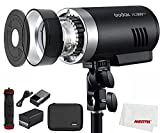 Godox AD300Pro AD300 Pro Outdoor Camera Flash Light Vedio Light 300Ws TTL 2.4G 1/8000 HSS with 2600mAh Battery for Canon Nikon Sony Fuji Olympus Pentax Camera (AD300PRO Only)