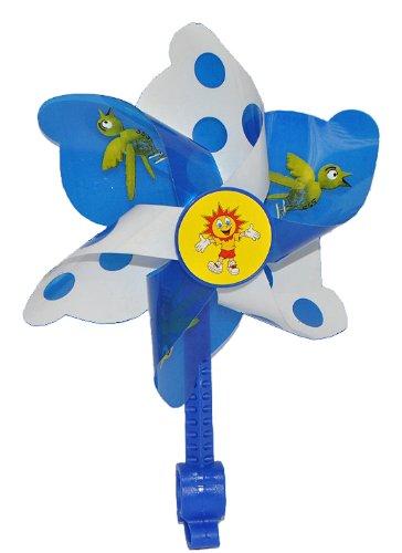 alles-meine.de GmbH Fahrradwindmühle für Kinder -  blau  - passend auch für Roller, Dreirad, Laufrad - Fahrrad Windrad Windmühle Deko Zubehör - Mädchen & Jungen - Kinderfahrrad..