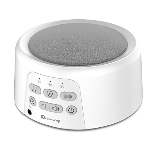 Dreamegg D3 White Noise Machine - Rechargeable Sound Machines for Sleeping, 24 Non-Looping HiFi...