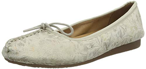 Clarks Freckle Ice, Ballerine Donna, Bianco (off White off White), 41 EU
