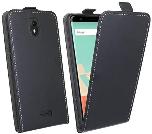 cofi1453 Klapptasche Schutztasche Schutzhülle kompatibel mit Wiko View Go Flip Tasche Hülle Zubehör Etui in Schwarz Tasche Hülle
