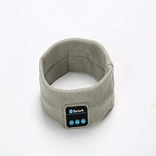 V5.0 Wireless Bluetooth Headscarf Outdoor Fitness Headset Music Call Knitting Sports Headband (Off-White)
