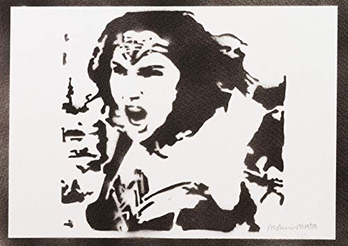 Wonder Woman Poster Justice League Plakat Handmade Graffiti Street Art - Artwork