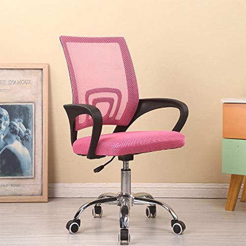 YFAH Computerstuhl,Bürodrehstuhl Einfacher Modischer Schreibtischstuhl Einfacher Modischer Stuhl Drehstuhl Für\'S Büro Mit Pulver Netzrückenlehne (Pulver),Sponge
