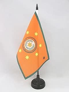 AZ FLAG Cherokee Indians Table Flag 5'' x 8'' - Native American Tribe Desk Flag 21 x 14 cm - Black Plastic Stick and Base