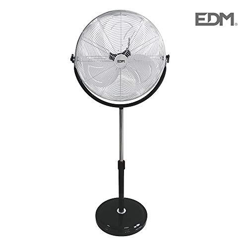 EDM Ventilatore da Terra 120W 50cm Base Tonda 33939