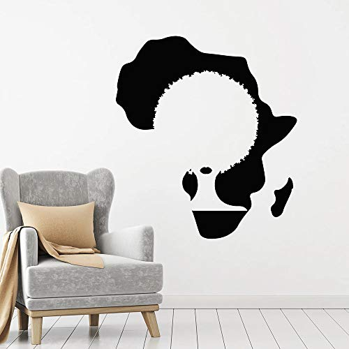 Tianpengyuanshuai fotobehang Afrika continent kaart zwarte dames zwarte stijl meisjes slaapkamer schoonheidssalon decoratie vinyl sticker