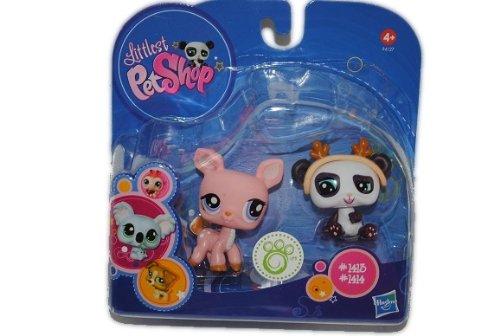 alles-meine.de GmbH Pet Shop Panda Bär und REH Nr. 1413 1414 Petshop Littlest Tiere Wackeltierchen