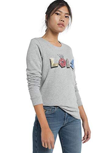 LOIS JEANS - Sudadera para Mujer   Sudadera con Letras Estampadas   algodón   Tallaje en Pulgadas   Talla Inch - S
