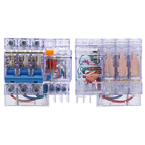 Disyuntor 3P, DZ47LE-63 Interruptor de protección contra fugas domésticas C63 para accesorios industriales para mantenimiento doméstico para electricista